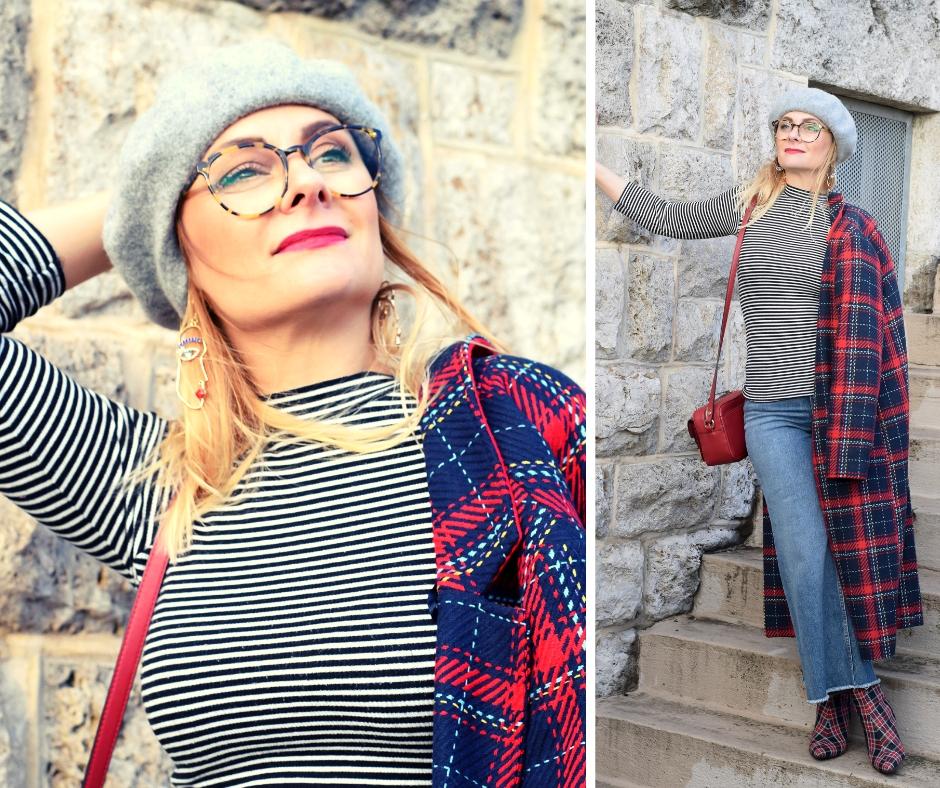 Mustermix mit Karomantel / Modeblog für Fraue ab 40