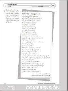 Colegio José Calderón: Fichas de comprensión lectora y oral, 4º E ...