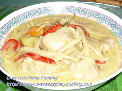 Chicken Curry with Bamboo Shoots Dish