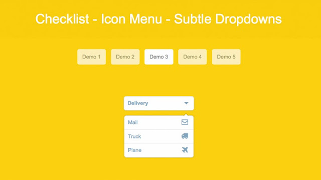 How to Create a Subtle Dropdown Checklist and Menu