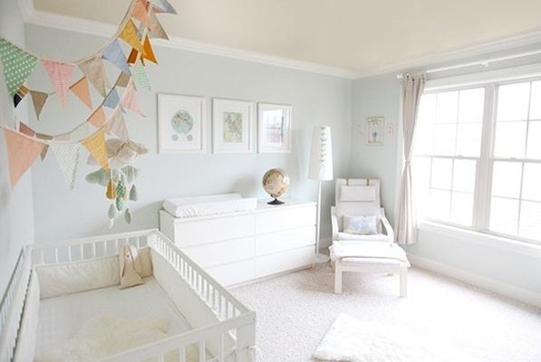 Ideias de decora o para quartos de beb jeito de casa for Cuartos para ninas simples