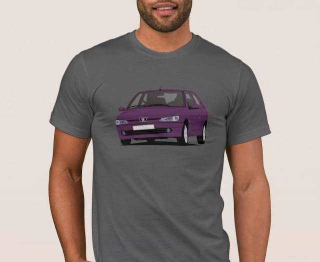 Violet Peugeot 306 GTi-6 T-shirt - hot hatch t-shrit