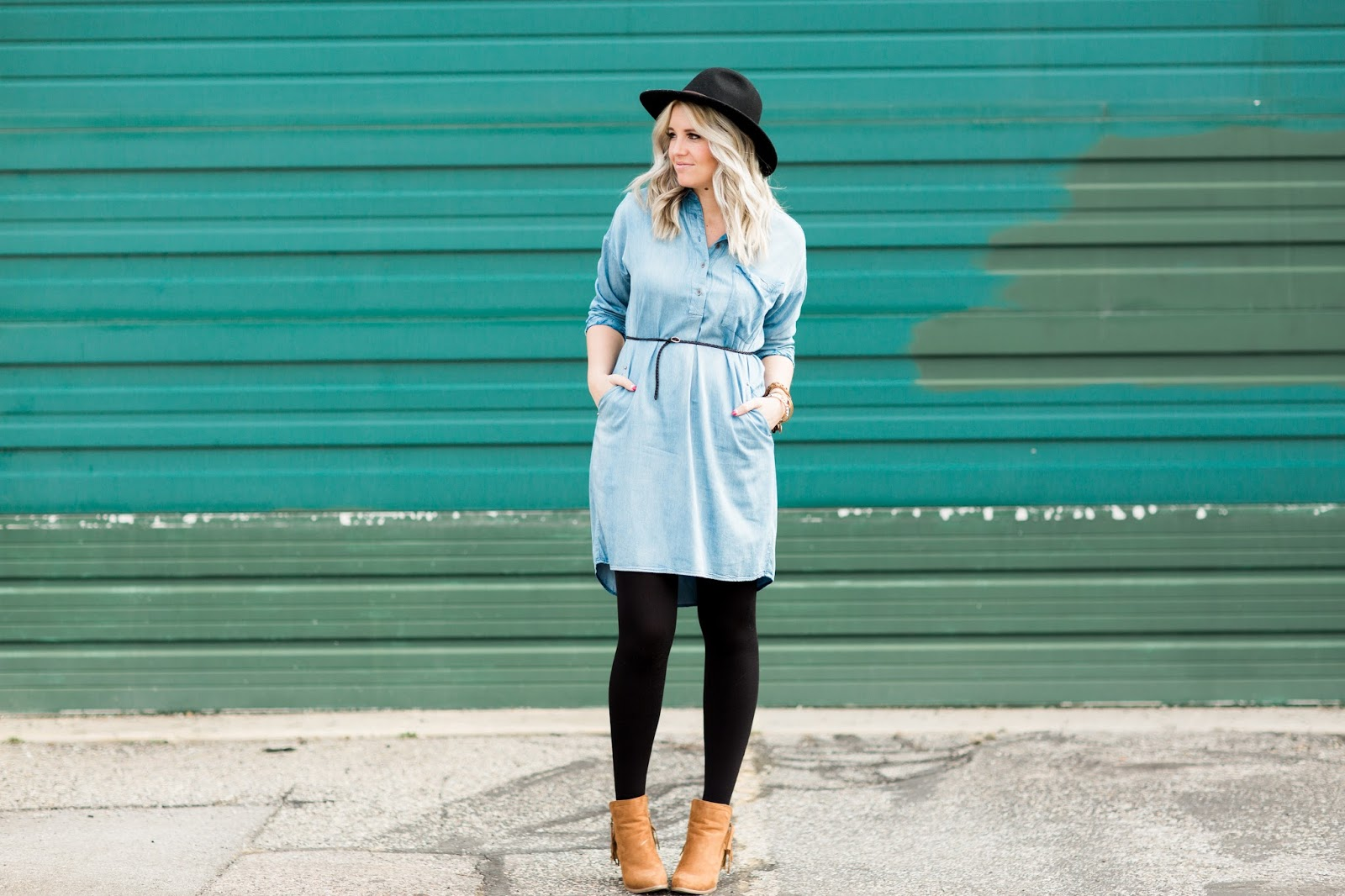 J Bella Shop, Denim Dress, Modest Fashion Blogger