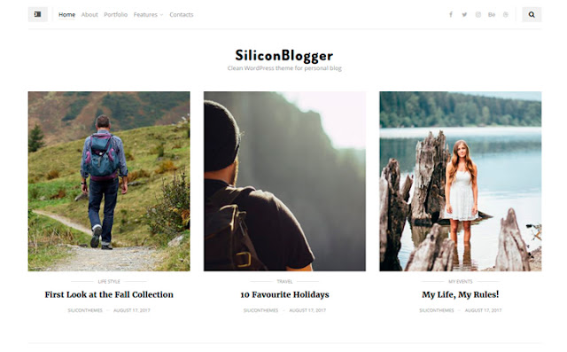 SiliconBlogger - Clean personal blog focused on readability WordPress Theme
