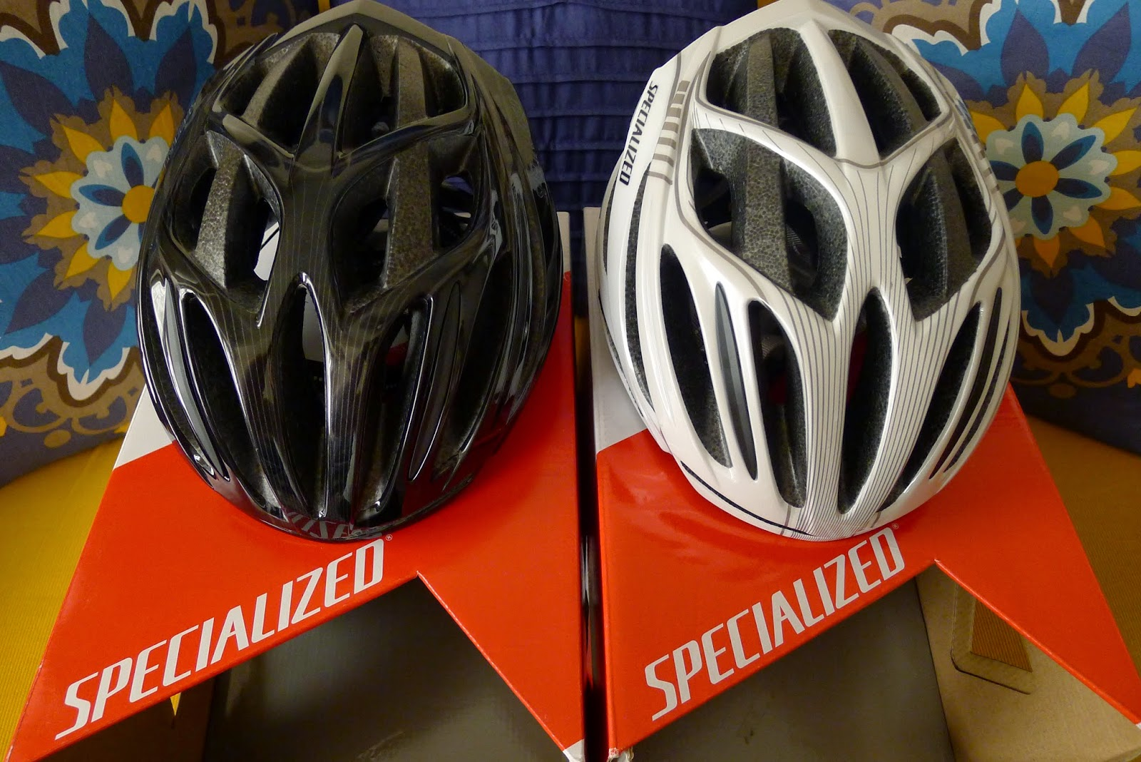 0fae2a148f2 Our Specialized Echelon II Bike Helmets with reflective decals for added  nighttime visibility