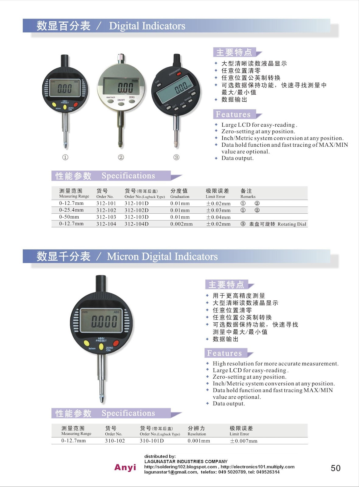 Soldering AntiStatic ThermoMeters Philippines Dial Indicator  Digital Indicator