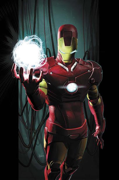 Ultimate Iron Man Comic Art