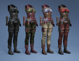 Relentless Mercenary Outfit Textures