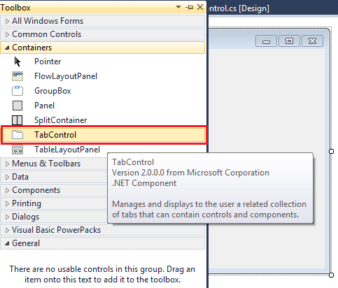 Tab Control C# Windows Application