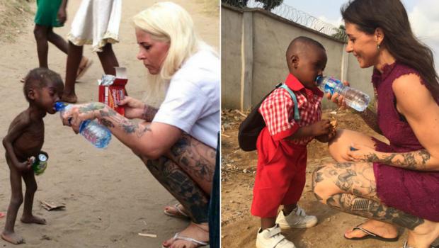 Um ano depois menino Hope saudável vai para a escola