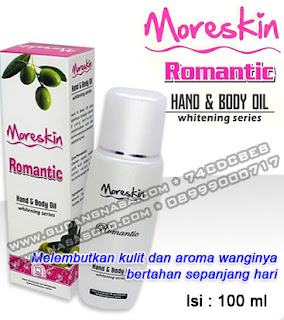 MORESKIN HAND & BODY OIL ROMANTIC Rp.65.000,-