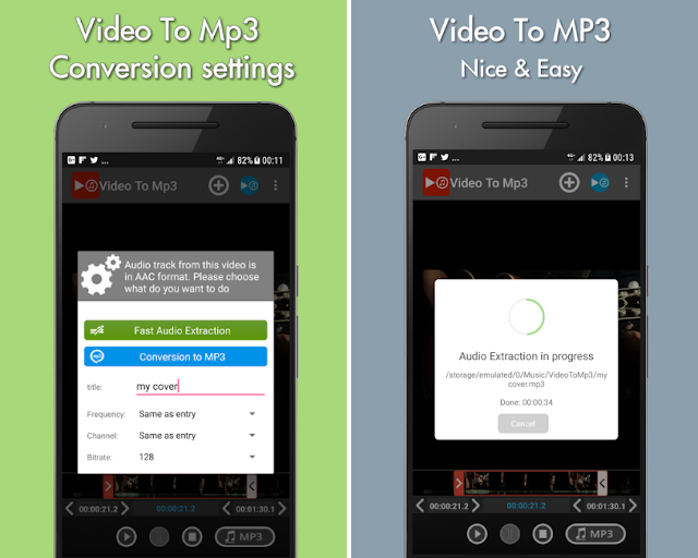 Video to mp3 App