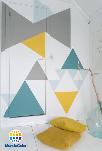 pintar con patrones geométricos