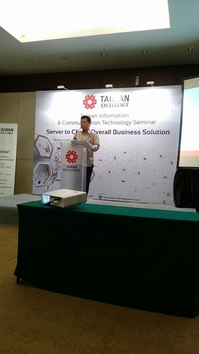 Kegiatan Taiwan Excellence Seminar di Communic Indonesia 25 Okt 2017