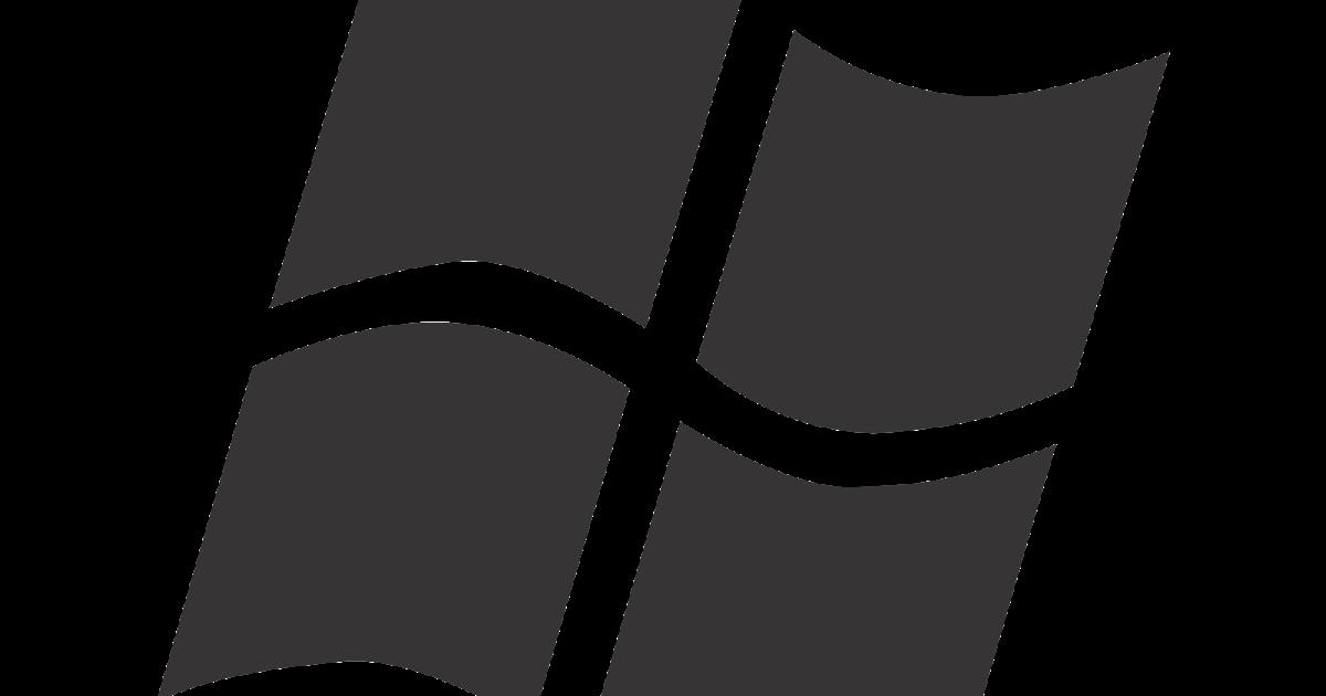 windows logo vector (black-white design)~ format cdr, ai, eps, svg