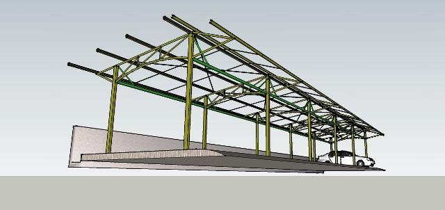 model kanopi atap baja ringan