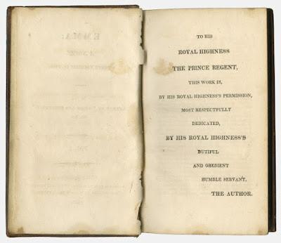 Dedication to the Prince Regent in Jane Austen's Emma