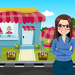 G4K Happy Business Woman Rescue Game