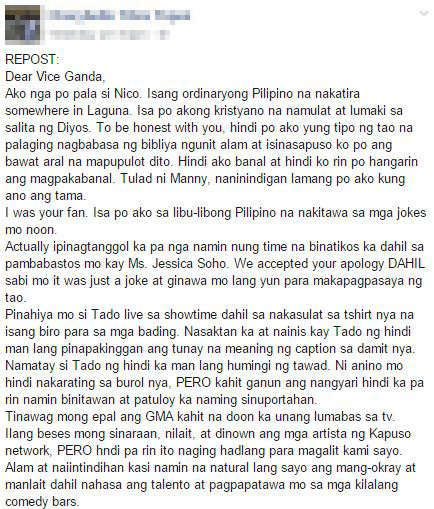Open Letter Of A Concerned Citizen To Vice Ganda Sparks Outrage As It Goes Viral!