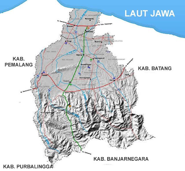 Gambar Peta Infrastruktur Kabupaten Pekalongan
