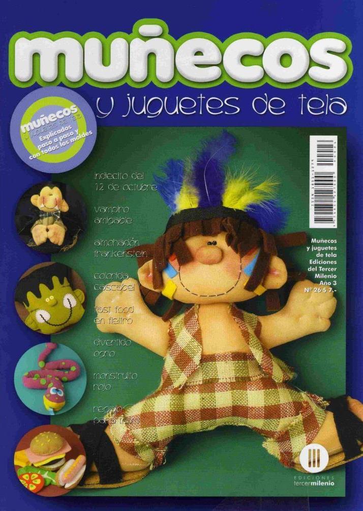 Muñecos y Juguetes de Tela Nro. 26