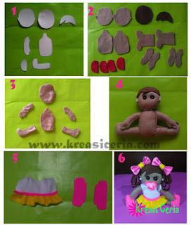 Tutorial boneka balita lucu yang dibuat dari kain flanel