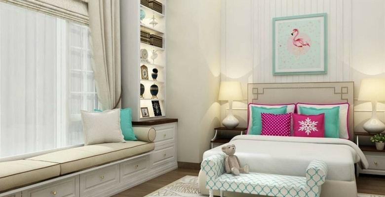 quarto rosa e verde