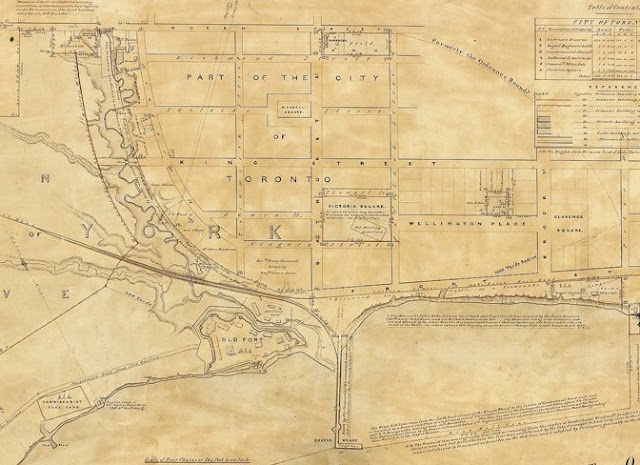 Map: Toronto Plan shewing the Boundaries... of the Military Reserve belonging to the Ordnance, 1852, Sandford Fleming