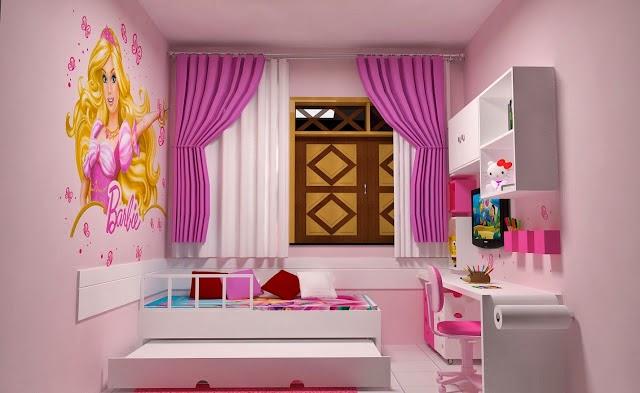 Diseño dormitorio tema barbie