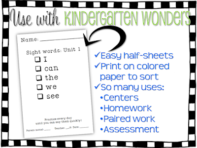 Sight word practice and Assessment