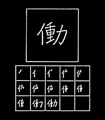 kanji bekerja