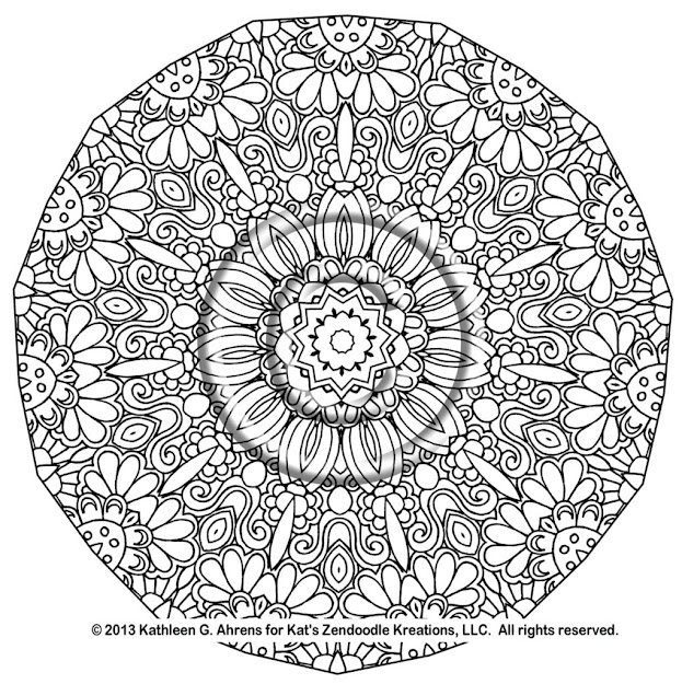 Plex Mandala Coloring Pages Printable Instant Pdf Download Coloring