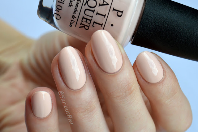 opi stop it i'm blushing peach pastel swatch