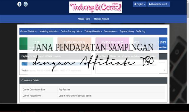 Jana Pendapatan Sampingan Dengan Affiliate TSC