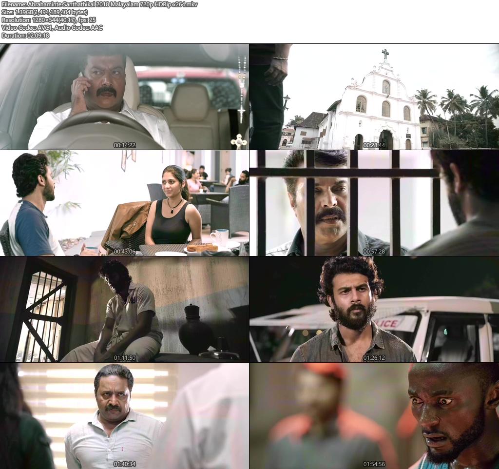 Abrahaminte Santhathikal 2018 Malayalam 720p HDRip x264 | 480p 300MB | 100MB HEVC Screenshot