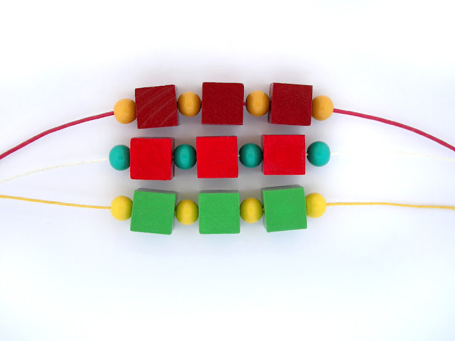colorful wooden bead necklaces