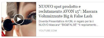 Video mascara Big&False di Avon