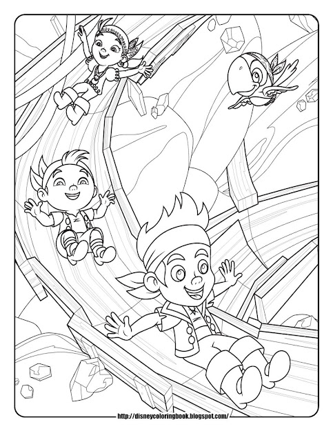 Free Printable Jake And Neverland Pirates Coloring Pages Free Download