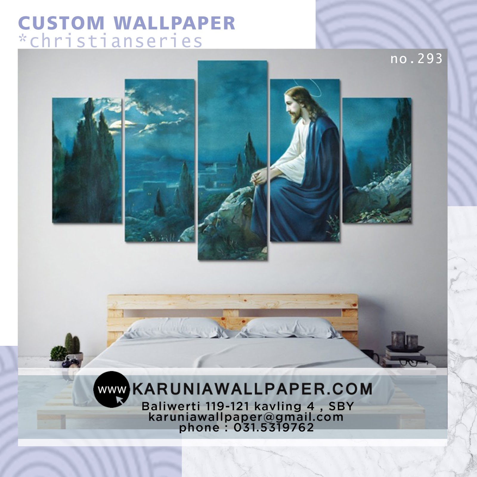 jual wallpaper custom kristen katolik