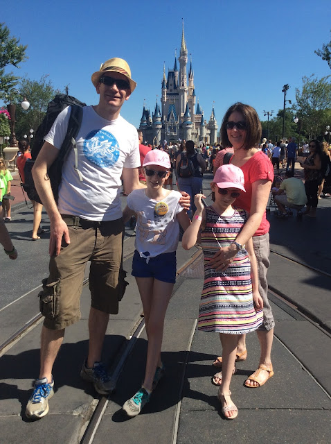 Stephs Two Girls family shot in Magic Kingdom