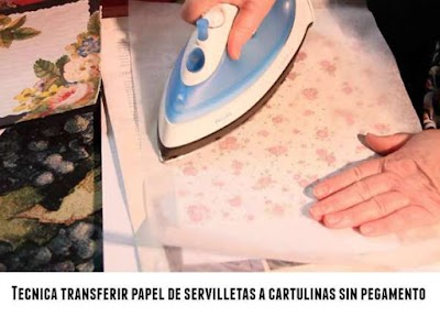 Tecnica transferir papel a cartulina sin pegamentos