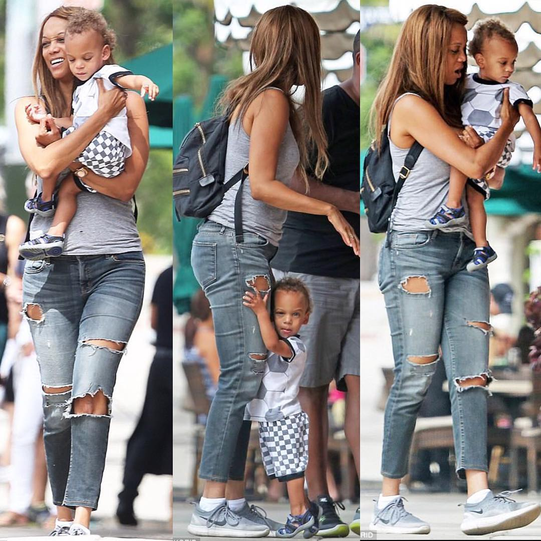 Tyra Banks Son: ENTERTAINMENT: TYRA BANKS AND HER 18 MONTHS SON UP AND