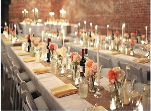 table decorations for wedding rehearsal dinner living