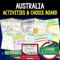 Australia Geography Activities, World Geography Graphic Organizers, World Geography Digital Interactive Notebook, World Geography Summer School, World Geography Google Activities