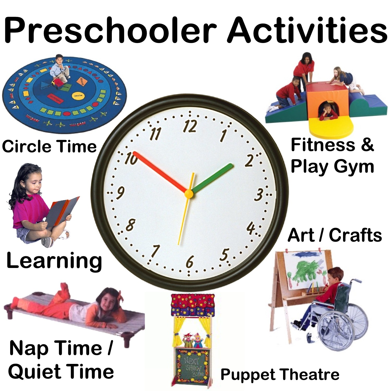 Preschool Activities Vector Clip Art