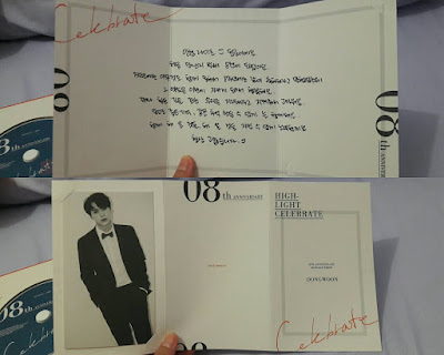 Dongwoon Message Card Celebrate Album