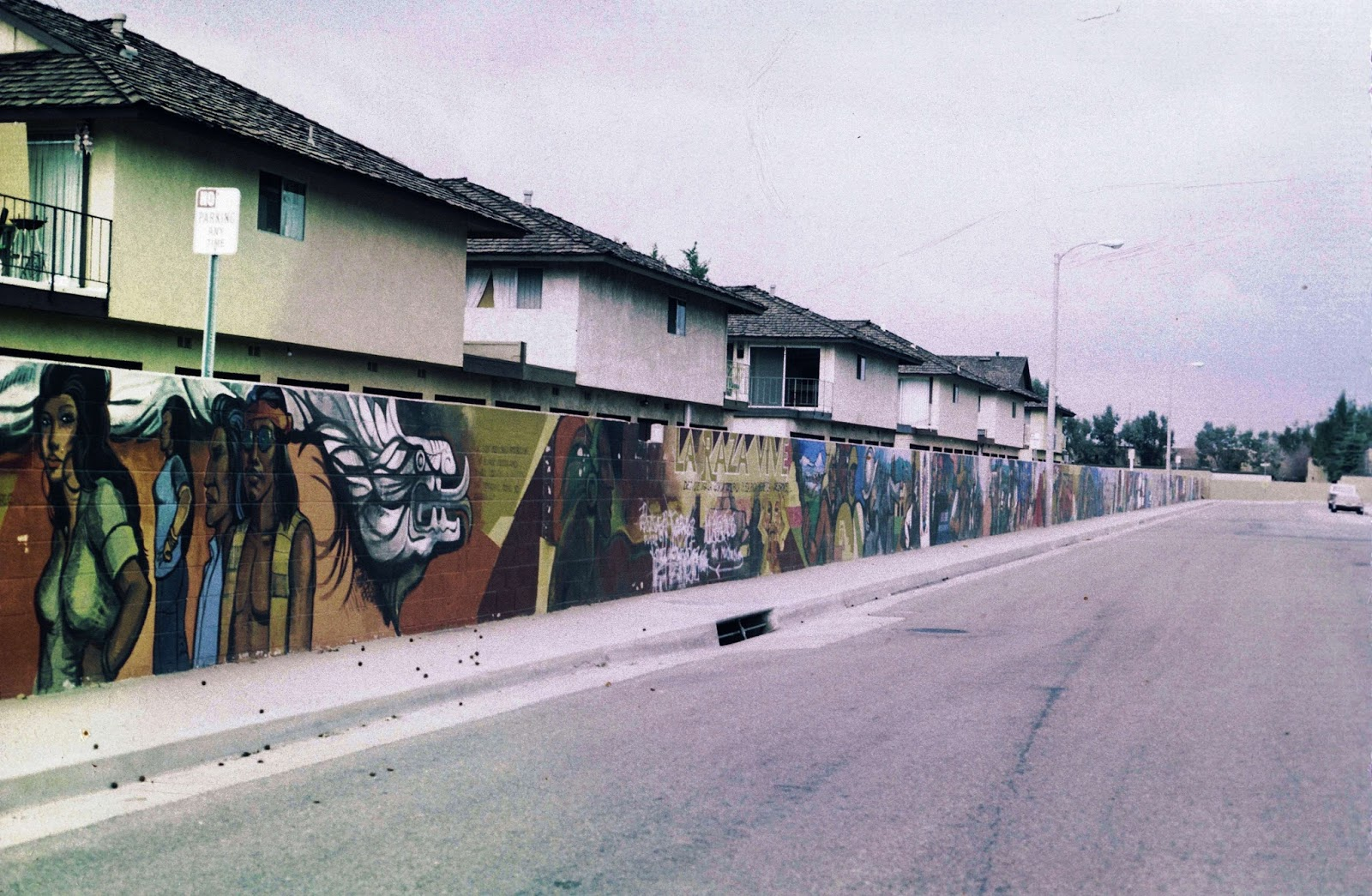 Sergio O'Cadiz's mural (1975) was starved of resources after Fountain Valley officials who had commissioned it saw a panel showing police mistreating a Chicano youth. The mural was neglected, left to decay, and finally bulldozed by the city.