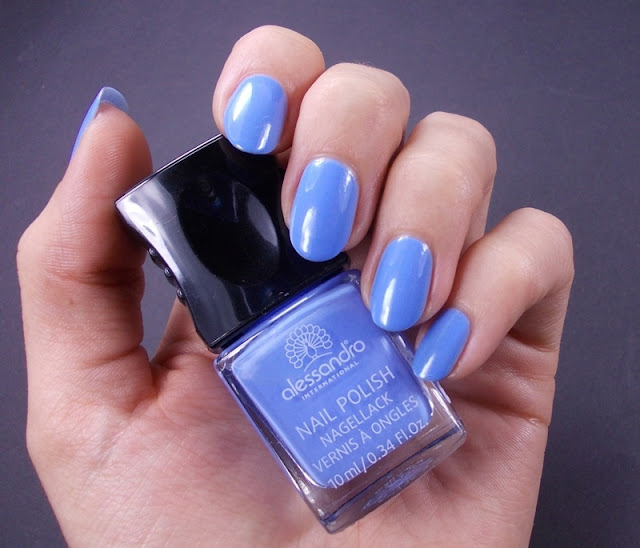 Alessandro Baby blue nail polish swatch review