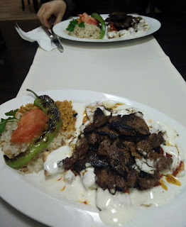 Two beef Iskander kebabs