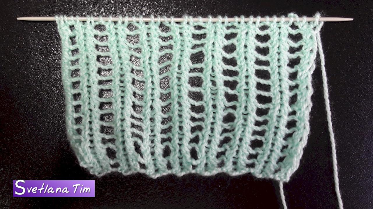 Мастер-класс вязания спицами узора сетка по схеме